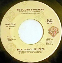 画像1: $$ The Doobie Brothers / It Keeps You Runnin' / What A Fool Believes (GWB 0380) 7inch YYS108-3-3